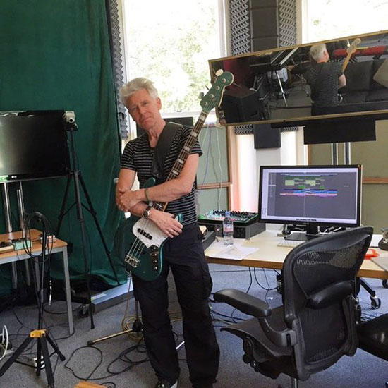 u2 Adam Clayton in the studio for songs of experience