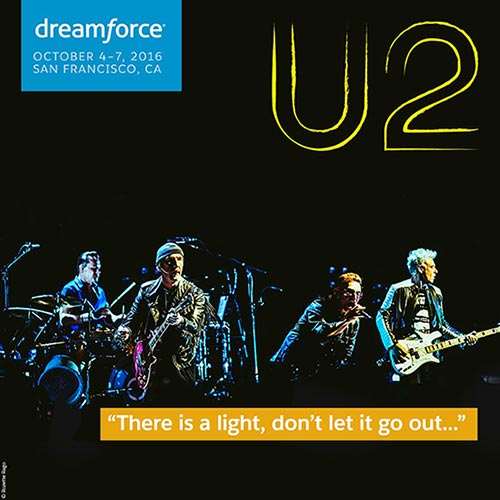 u2 dreamforce salesforce