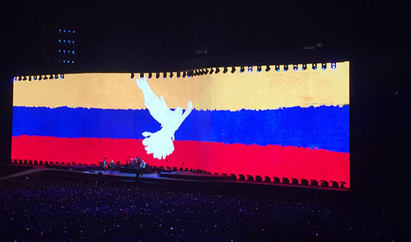 u2 bogota colombia The joshua tree tour 2017