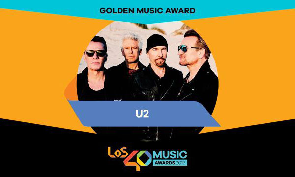 u2 los 40 music golden award